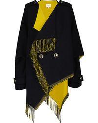 Dorothee Schumacher Colorful Fringe Wool-blend Jacket - Blue