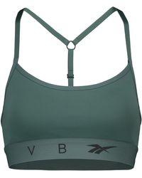 Reebok X Victoria Beckham Sujetador deportivo con logo - Verde