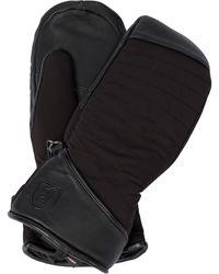 Toni Sailer Cata Leather-trimmed Ski Gloves - Black