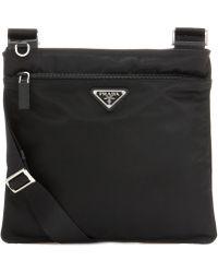 Prada Nylon Crossbody Bag - Black