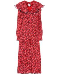 Gül Hürgel Floral Maxi Dress - Red