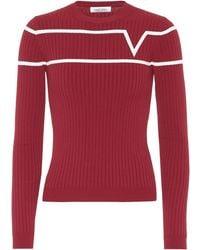 Valentino Pullover mit Intarsie - Rot