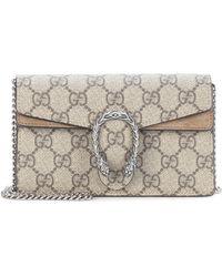 Gucci Dionysus GG Supreme Super Mini Crossbody Bag - Natural