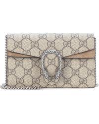 4c7c538df Gucci Beige Dionysus GG Supreme Super Mini Bag - Save 7% - Lyst