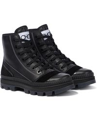 Jimmy Choo Nord/f Leather Sneakers - Black