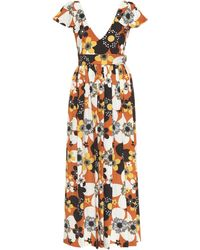 Dodo Bar Or Floral Maxi Dress - Brown