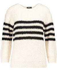 A.P.C. Luzia Merino Wool-blend Jumper - White