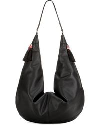 The Row Sling 15 Leather Shoulder Bag - Black