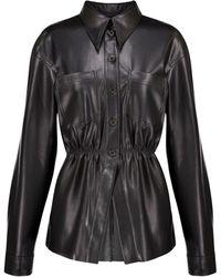 Nanushka Camisa Thalita de piel sintética - Negro