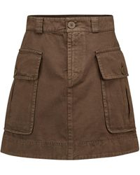 See By Chloé Cotton Twill Miniskirt - Brown