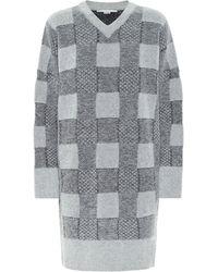 Stella McCartney Minikleid aus einem Wollgemisch - Grau
