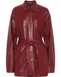 JOSEPH Jent Leather Jacket - Red