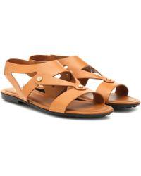 Tod's Sandalen aus Leder - Braun
