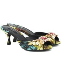 Dolce & Gabbana Verzierte Pantoletten Keira - Mehrfarbig