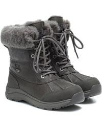 UGG Adirondack Iii Leather Ankle Boots - Grey