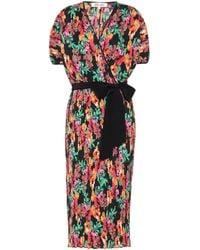 Diane von Furstenberg Vestido midi Autumn plisado - Multicolor