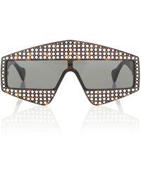 Gucci Gafas de sol con adornos - Negro
