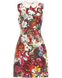 Gucci Embellished Silk Dress - Red
