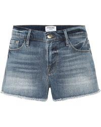 FRAME Short Le Cut Off en jean - Bleu