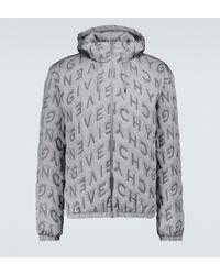 Givenchy Bedruckte Windjacke mit Kapuze - Mettallic