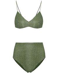 Oséree Bikini Lumière a vita alta - Verde