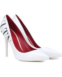 Valentino - Vltn Leather Court Shoes - Lyst