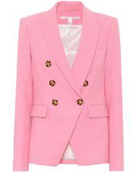Veronica Beard Miller Dickey Stretch-twill Blazer - Pink