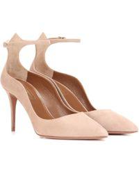 Aquazzura - Dolce Vita 85 Suede Court Shoes - Lyst