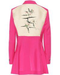 Loewe Botanical Wool Blazer - Pink