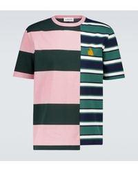 Lanvin Gestreiftes T-Shirt aus Baumwolle - Grün