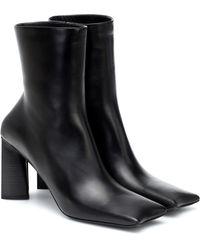 Balenciaga - Ankle Boots Moon aus Leder - Lyst