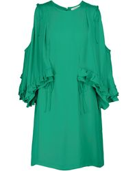 Dorothee Schumacher Fluid Luxury Silk Minidress - Green