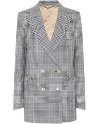 Blazé Milano Blazer Everyday de lana de cuadros - Azul