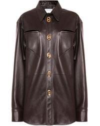 Bottega Veneta Leather Shirt - Brown