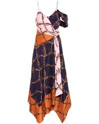 Jonathan Simkhai Asymmetrisches Kleid mit Print - Mehrfarbig