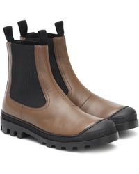 Loewe Leather Chelsea Boots - Multicolour