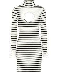 Vetements Minikleid aus Stretch-Jersey - Weiß