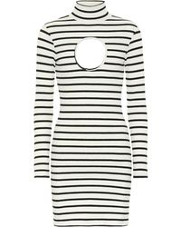 Vetements Striped Stretch-jersey Minidress - White