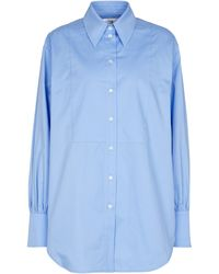 Victoria, Victoria Beckham Camicia oversize in cotone - Blu