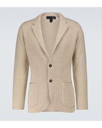 Lardini Knitted Cashmere Jacket - Natural