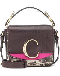 Chloé - C Mini Leather Shoulder Bag - Lyst