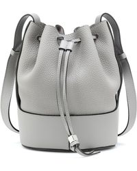 Loewe Small Balloon Leather Bucket Bag - Grey
