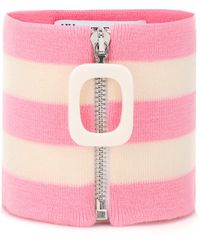 JW Anderson Striped Wool Collar - Pink