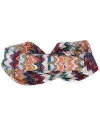 Missoni Fascia per capelli a righe in misto lana - Multicolore