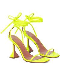 AMINA MUADDI Sandalen Vita aus Leder - Gelb