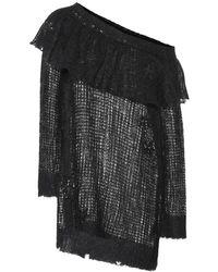 Valentino Pullover in mohair con paillettes - Nero