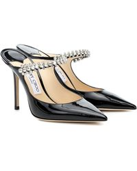 Jimmy Choo Bing 100 Patent Heels - Black