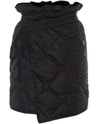 Moncler Quilted Down Miniskirt - Black