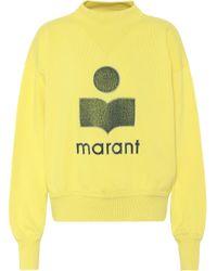 Étoile Isabel Marant Moby Cotton-blend Sweatshirt - Yellow