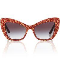 Dolce & Gabbana Cat-Eye-Sonnenbrille Devotion - Mehrfarbig